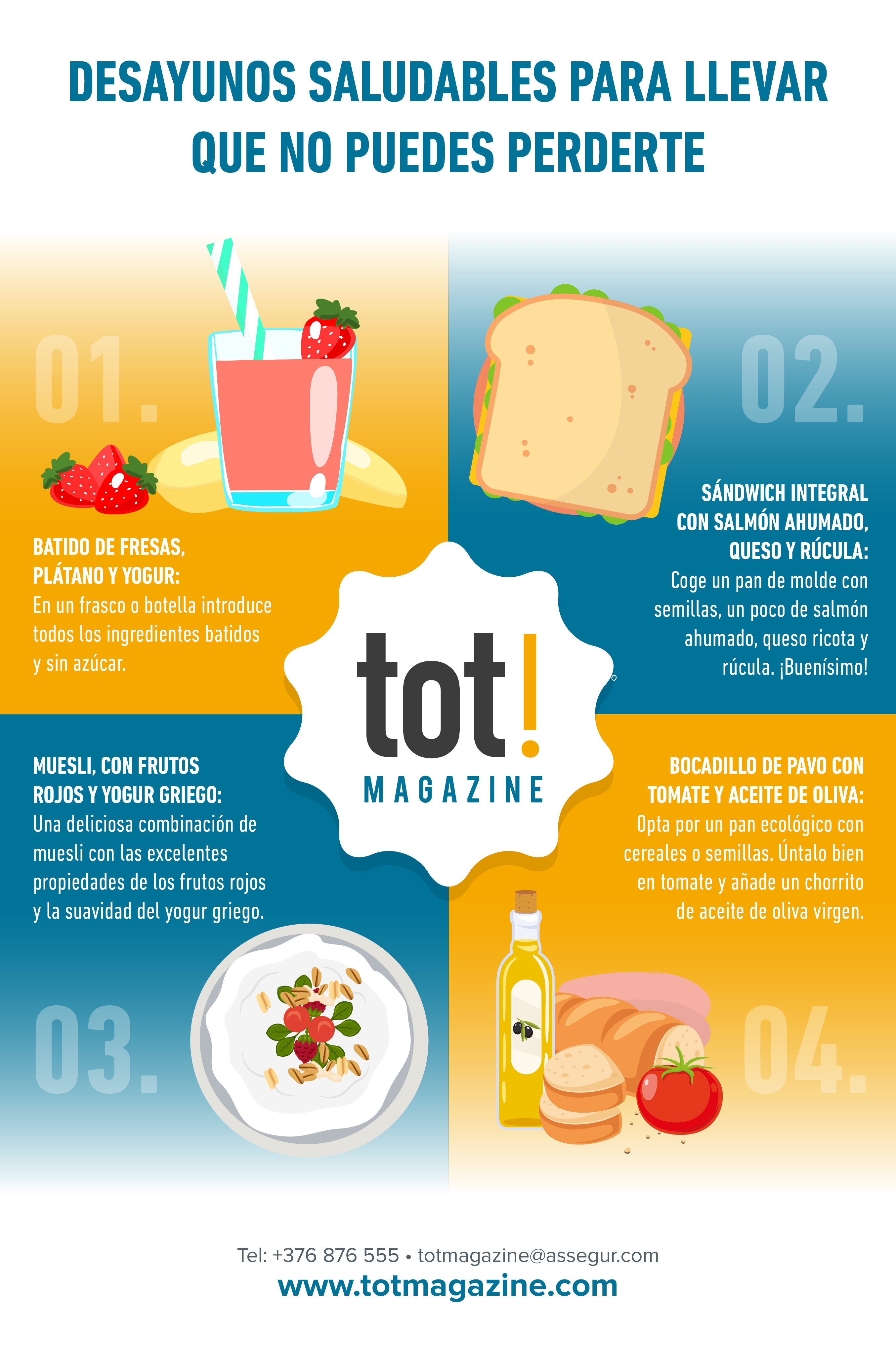 desayunos saludables para llevar que no puedes perderte infografia