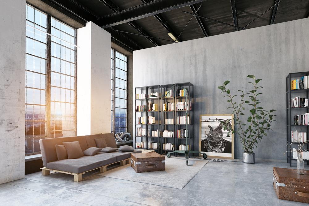 Estilo industrial para la reforma de tu hogar assegur - Salon estilo industrial ...
