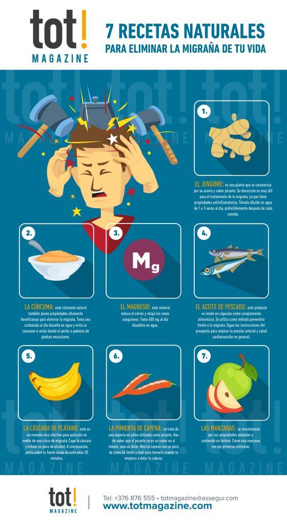 recetas naturales para eliminar la migraña