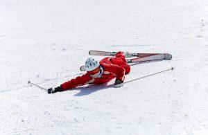 lesión en una pista de esquí