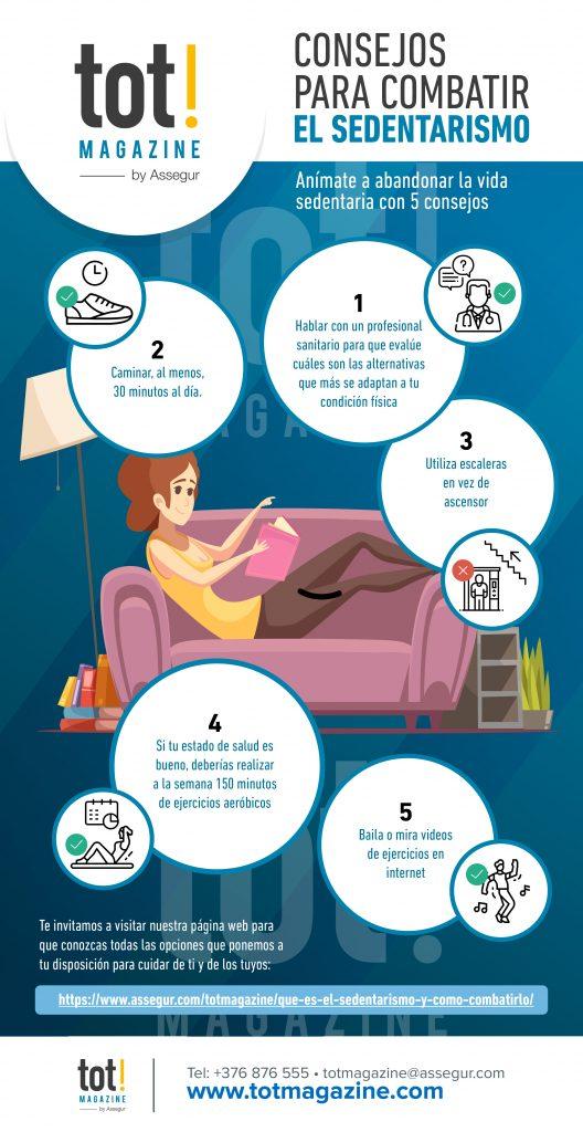 consejos para combatir el sedentarismo